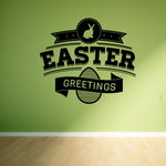 Easter Greetings Typography Decal