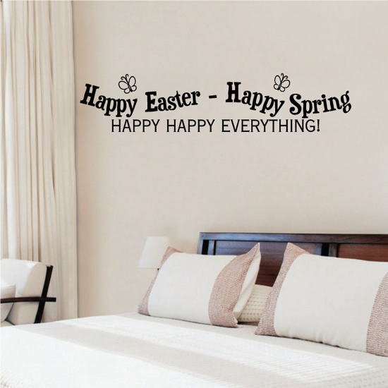 Happy Easter Happy Spring Happy Happy Everything Decal