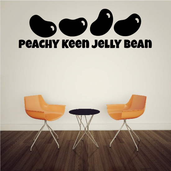 Peachy Keen Jelly Bean Decal