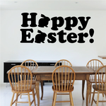 Happy Easter Bunnies in Quote Decal