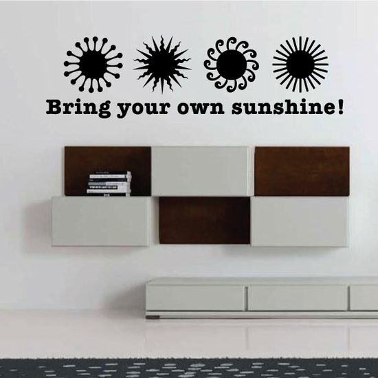 Bring Your Own Sunshine Decal