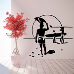Surfers Walking to the Beach Decal