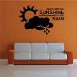 Do not Miss The Sunshine Worrying About The Rain Decal