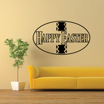 Happy Easter Egg Sign Decal