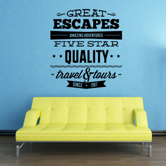 Great Escapes Amazing Adventures Wall Decal