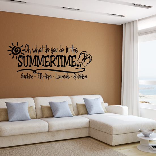 Oh what do you do in the summertime Decal