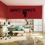 Hippity Hoppity Easter Hanging Ribbon Decal