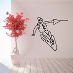 Wakeboarding Wall Decal - Vinyl Decal - Car Decal - MC009