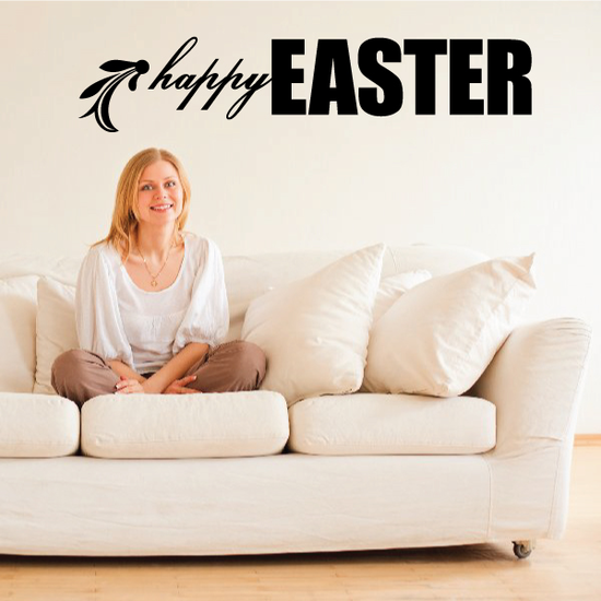 Happy Easter Floral End Decal