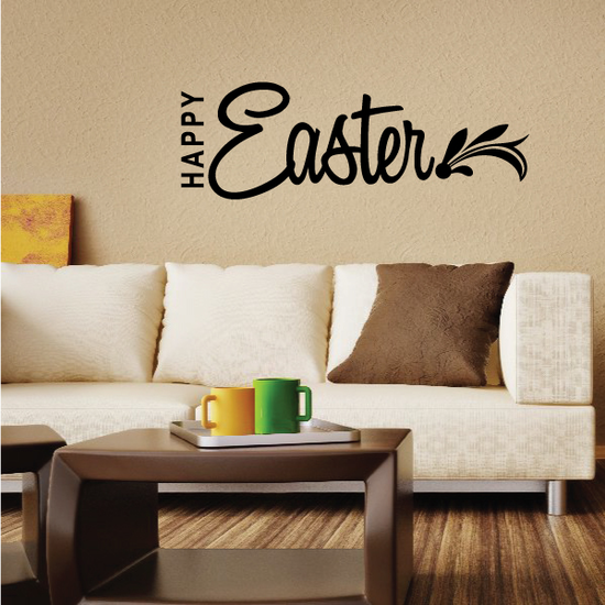 Happy Easter Leafy End Decal