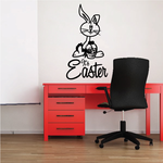 It's Easter with Cartoon Bunny Decal