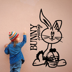 Kids Easter Bunny Crossing Decal