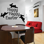 Hoppy Happy Easter Bunnies Decal
