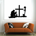 Praying Solider with Cross Decal