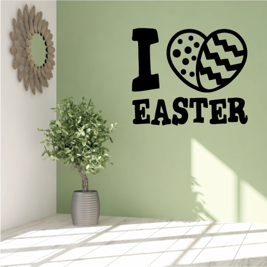 I Heart Easter Eggs Decal