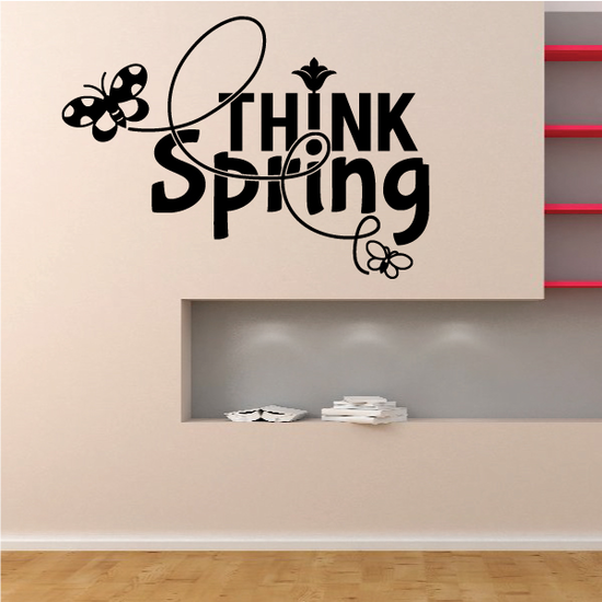 Think Spring Butterfly Decal
