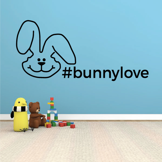 Bunny Love Hashtag Decal