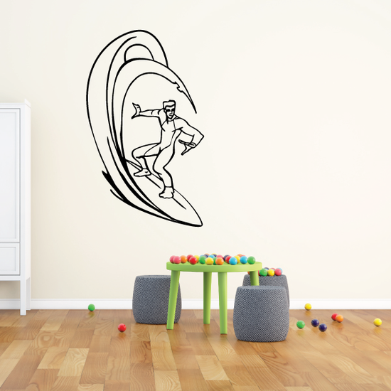 Surfing Wall Decal - Vinyl Decal - Car Decal - CDS010
