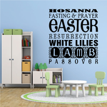 Hosanna Fasting and Prayer Easter Decal