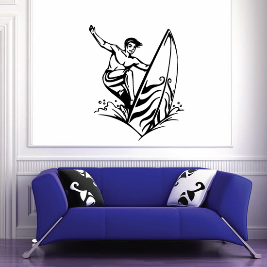 Surfing Wall Decal - Vinyl Decal - Car Decal - CDS014