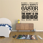Bunny Crossing Typography Quote Decal