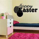 Happy Easter with Double Eggs Decal