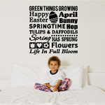 Green Things Growing Decal