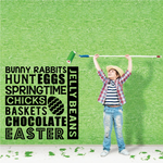 Bunny Rabbits Easter Quote Decal