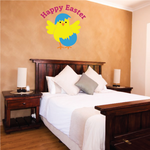 Happy Easter Chick Hatching from Egg Printed Die Cut Decal