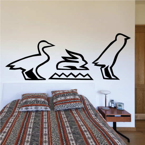 Heiroglyphs Egyptian Wall Decal - Vinyl Decal - Car Decal - MC30