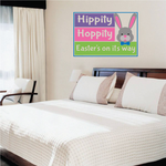 Hippity Hoppity Easter's on its Way Printed Die Cut Decal