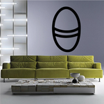 Easter Egg with Stripe Decal