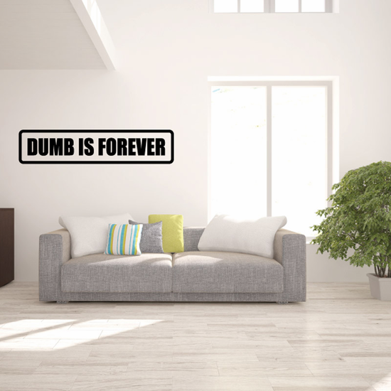 Dumb is forever Decal