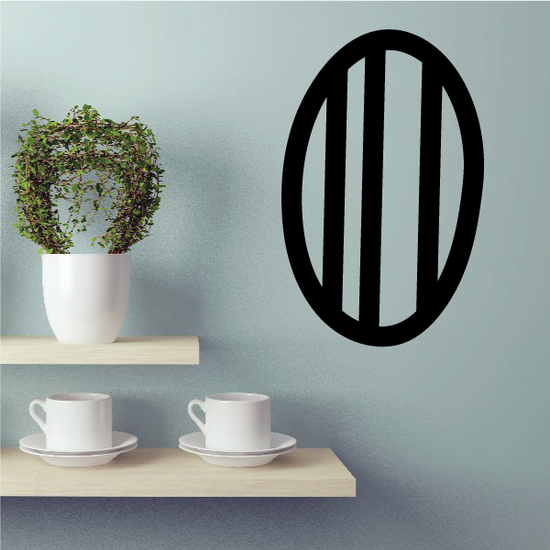 Simple Easter Egg Stripes Decal
