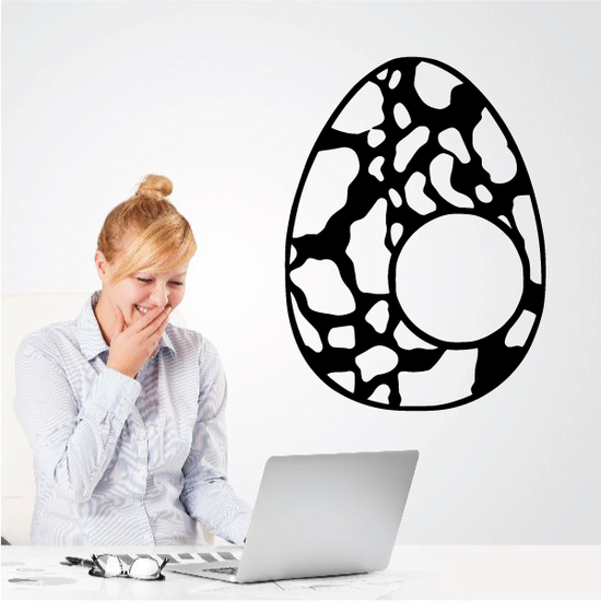 Easter Egg Abstract Marble Pattern Decal