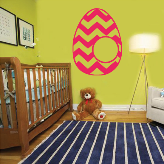 Easter Egg Repeating Chevron Pattern Decal