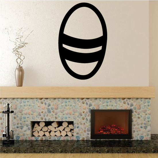 Easter Egg Double Stripe Decal