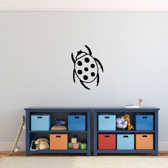 Ladybug Legs Out Decal