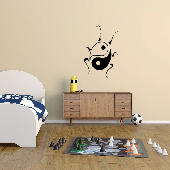 Ladybug as Yin Yang Design Decal