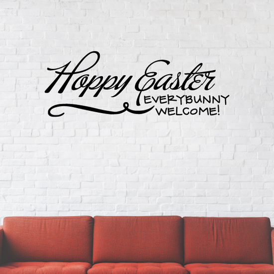 Happy Easter Everybunny Welcome Decal