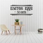 Easter Eggs 50 Cents Decal