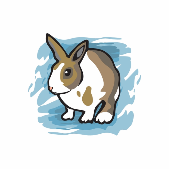 Brown Easter Bunny Sticker