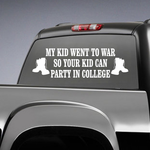 My Kid Went To War Boots Decal
