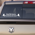 My Dad Has Your Back Decal