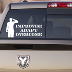 Improvise Adapt Overcome Soldier Decal
