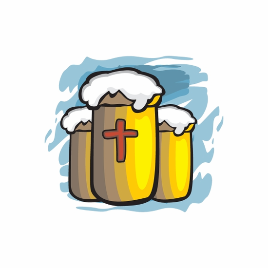Easter Beer Mugs Sticker