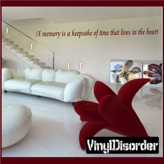 A memory is a keepsake of time Wall Decal