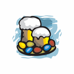 Easter Beer Mugs and Eggs Stickers