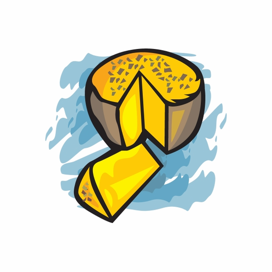 Easter Cheese Sticker