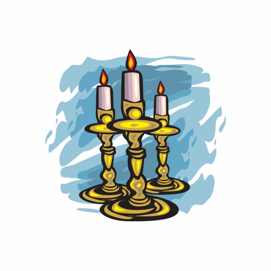 Easter Three Candles Sticker